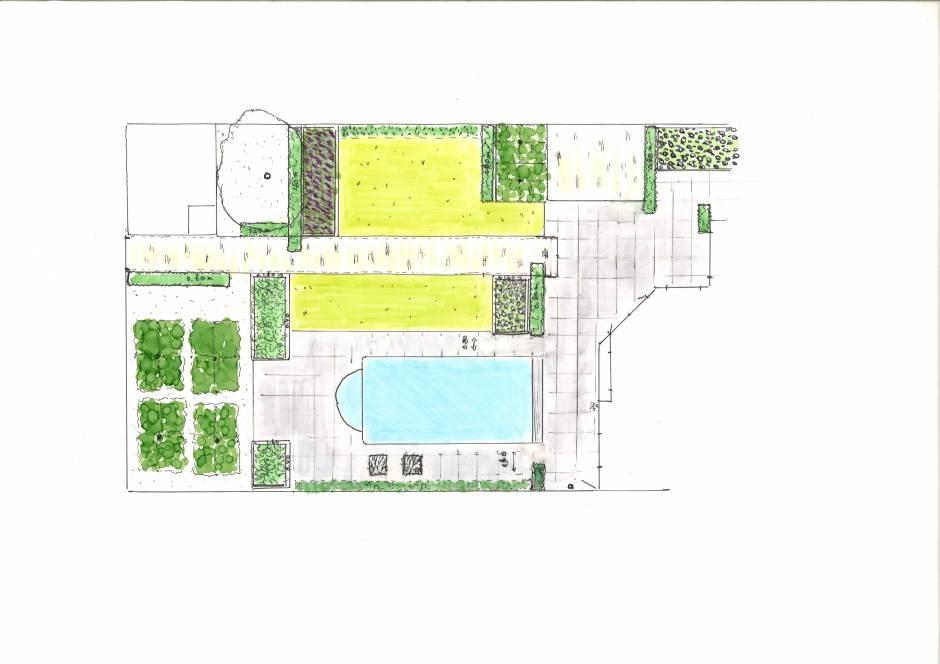 Familie lounge tuin met zwembad projecten rieter for Zwembad plaatsen in tuin